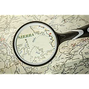 SE ML2111-2.5 2.5-Inch Handheld Magnifier with 3X Magnification (9 Diopter), Rubberized Body