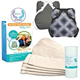 Tidy Tots Diaper Hassle Free 4 Diaper Snap Essential Set With Diamond Dots and Grey Covers
