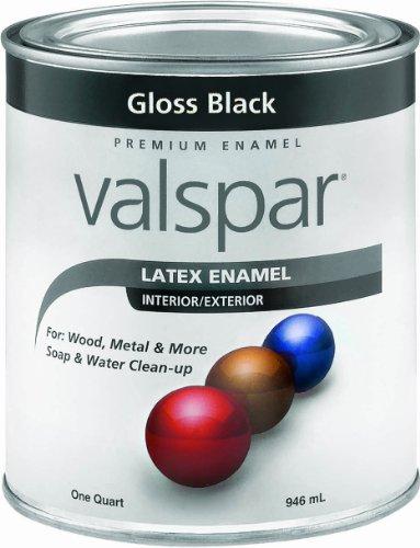 Valspar 65048 Premium Interior/Exterior Latex Enamel, 1-Quart, Gloss Black