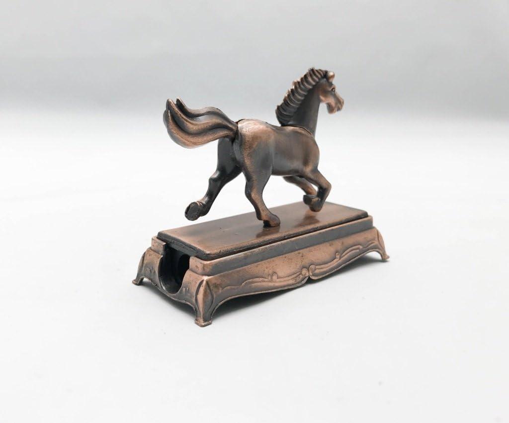 Metallo pressofuso temperamatite Horse Collectible miniature figurine/ /Horse Bronze metal figurine