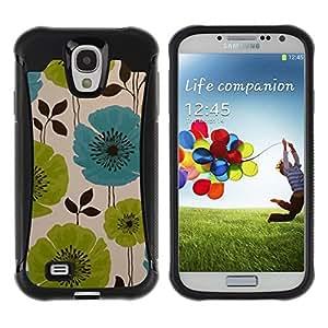Suave TPU GEL Carcasa Funda Silicona Blando Estuche Caso de protección (para) Samsung Galaxy S4 IV I9500 / CECELL Phone case / / Drawing Painting Green Blue Art /