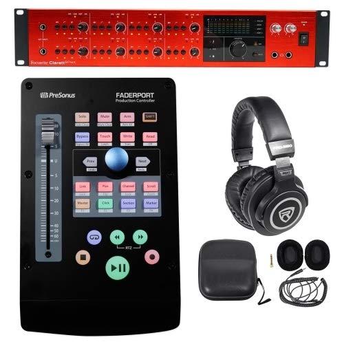 Focusrite CLARETT 8PREX Thunderbolt Audio Interface+Control Surface+Headphones (Best Control Surface For Logic Pro X)
