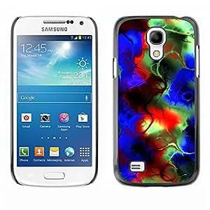 Carcasa Funda Prima Delgada SLIM Casa Case Bandera Cover Shell para Samsung Galaxy S4 Mini i9190 MINI VERSION! / Business Style Abstract Psychedelic Colors