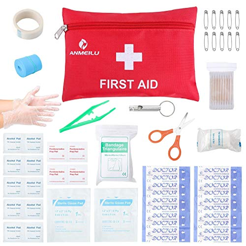- Small Travel First Aid Kit - 76 Piece Clean, Treat and Protect Most Injuries,Ready for Emergency at Home, Outdoors, Car, Camping, Workplace, Hiking.
