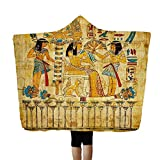 Little Story Ancient Egyptian Pharaoh Hooded Blanket Napping Blanket Wearing a Hat Blanket
