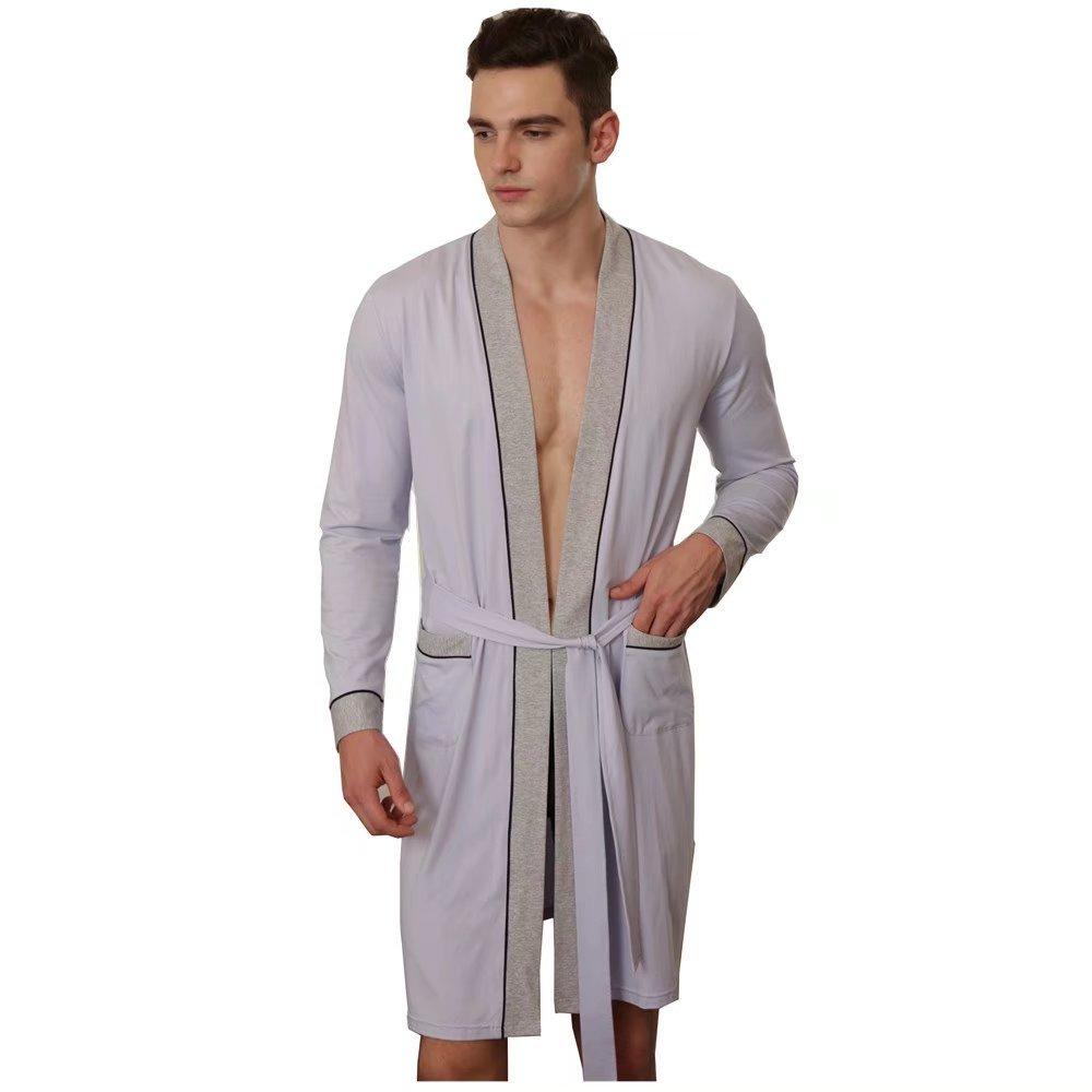 Flaydigo Men's Lightweight Bathrobe Woven Kimono Robes Big&Tall Sleepwear