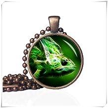 Chameleon Necklace,Pendant - Chameleon Jewelry,Wild Animal Necklace,pure handmade
