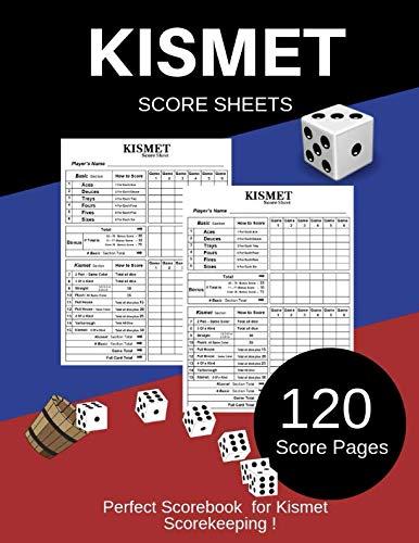 Kismet Score Sheet: Kismet Scoring Game Record