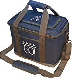 30 can cooler - GO! 30 Can Soft-Sided Collapsible Cooler: 15 Liter Insulated Tote Bag - Denim Blue