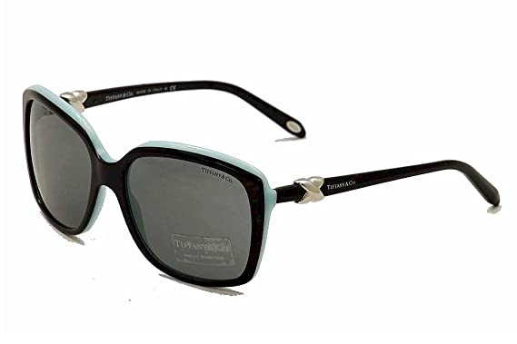 3167e3998ce4 Tiffany 4076 80553F Black TF4076 Square Sunglasses Lens Category 2 Size 58mm