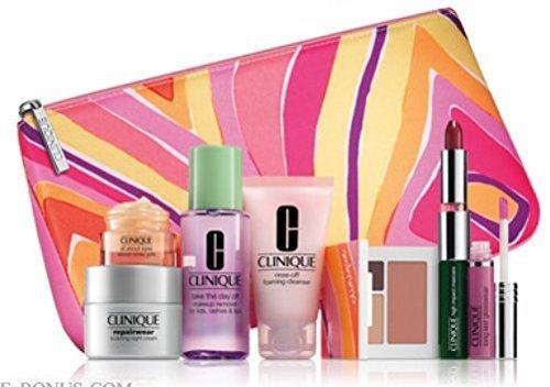 Clinique Gift Set - New 2015 Clinique Makeup Skincare Gift Set (Warm)