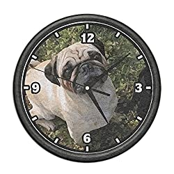 Mortimer Gilbert PUG FACE Wall Clock Doormat Entrance Mat Floor Mat Rug Indoor/Outdoor/Front Door Mats Non Slip