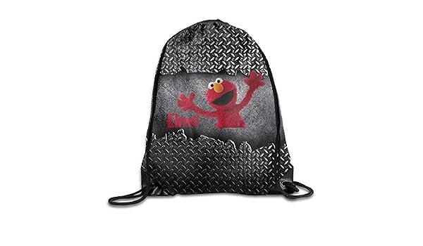 rtuuruyuy Creative Design Elmo's World Cordón Mochila Sport