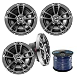 4X Infinity Reference 622m 6.5-Inch 225-Watt High-Performance 2-Way Weather-Proof Marine Boat Power Sport Vehicles 2-Way Coaxial Speakers