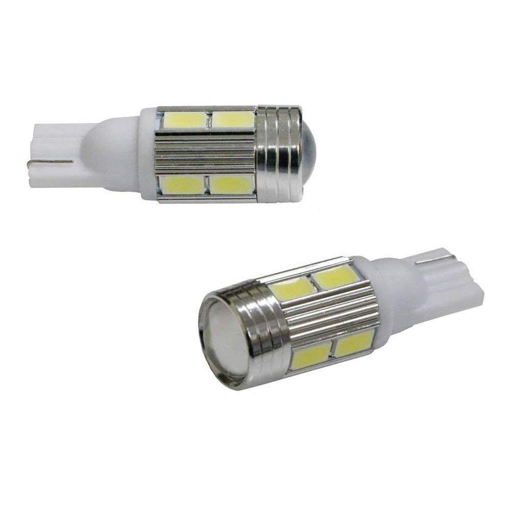 iJDMTOY 2 Parking Lights and Car Interior Lights etc Xenon White 6-SMD-5760 168 175 194 2825 W5W T10 LED Bulbs For Car License Plate Lights