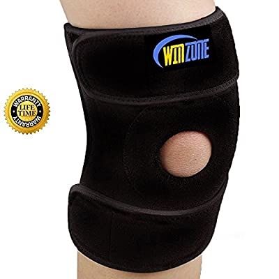 Knee Brace Support For Arthritis, ACL, Running, Basketball, Meniscus Tear, Sports, Athletic. Open Patella Protector Wrap, Neoprene, Non-Bulky, Relieves Pain,, Best Braces by Winzone