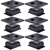 Westinghouse  6 Pack Pagoda II Black Solar Post Cap Lights for 4 x 4 Wood Posts