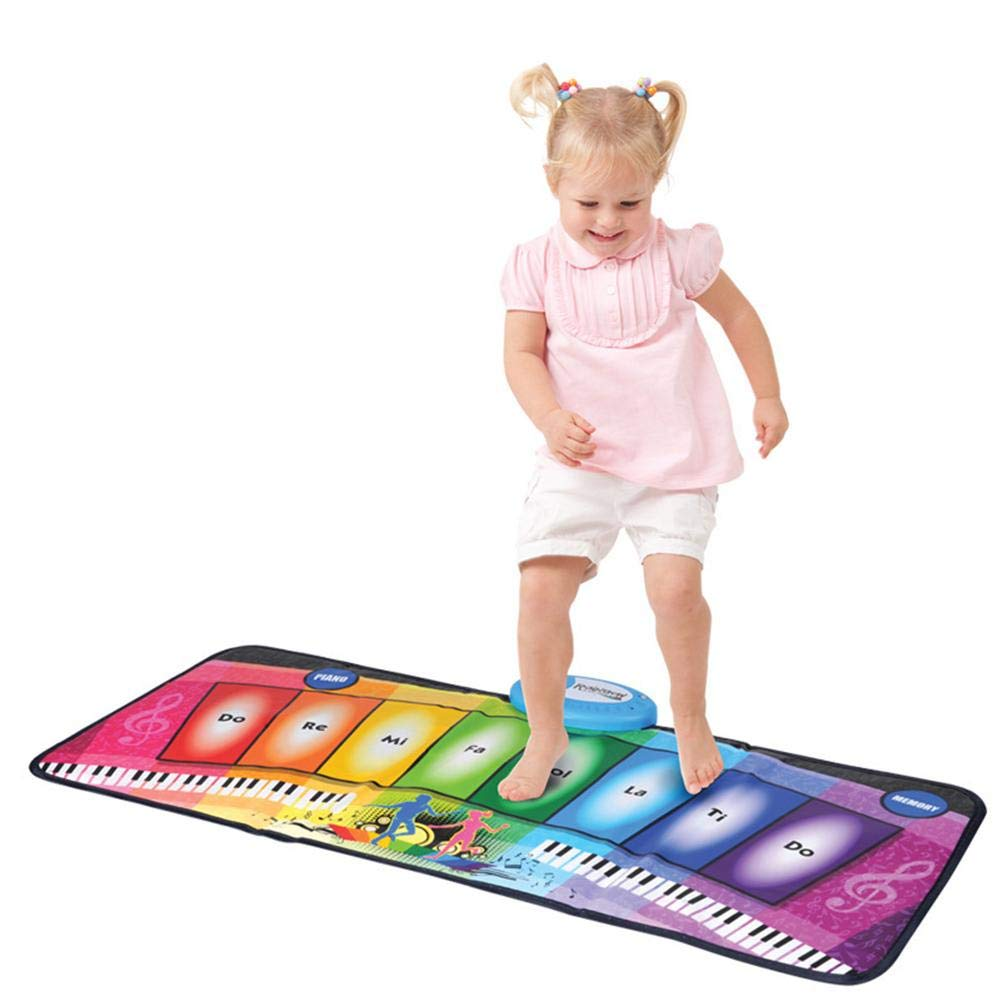 garyone-Game Dance mat Piano mat Children's Music Rainbow Keyboard Playmat Gift for Kids and Adult by garyone (Image #1)