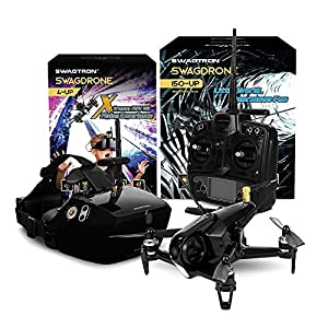 SWAGTRON SwagDrone RC Racing Drone Ready to Fly & FPV Capable Quadcopter HD Night Vision Camera Plus 5.8Ghz 500m Range Transmitter Carbon Fiber Body by Swagtron