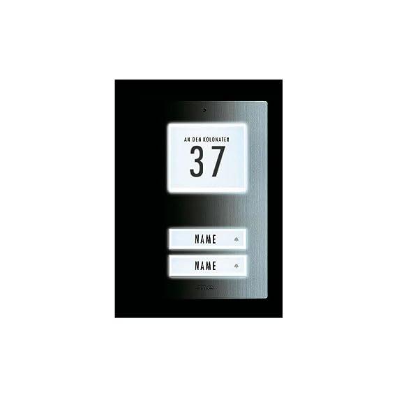 m-e GmbH modern-electronics KT 2-EG Klingel-Taster Klingelplatte ...