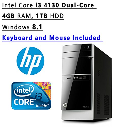Hp Pavilion 5000 (Newest HP Pavilion Flagship High Performance Tower Desktop PC | Intel Core i3 4130 Dual-Core | 3.40 GHz | 4GB RAM | 1TB HDD | DVDRW | WIFI | Windows)