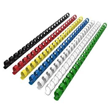 100 unidades Peines de pl/ástico para encuadernaci/ón 21 anillas color multicolor 8 mm