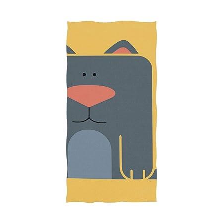 DEZIRO Toalla de baño para Yoga, diseño de Gato y Perro ...