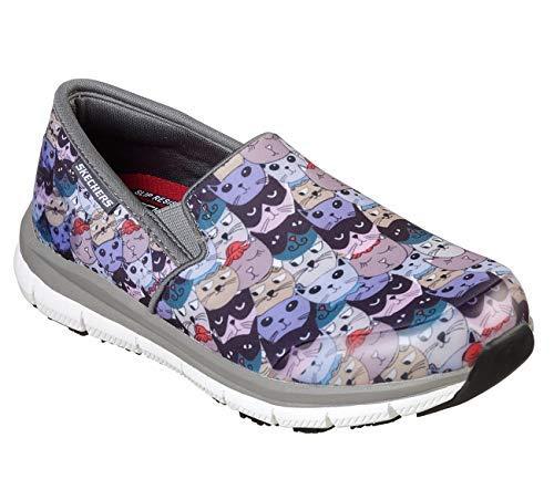 (Skechers Work Relaxed Fit Comfort Flex Pro HC SR II Kalcat Womens Sneakers Charcoal/Multi 10)