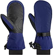 Andake Ski Mittens for Women, Thermal Breathable 90% Down Gloves, -40°F Cold Resistant and Waterproof, Warm Wi