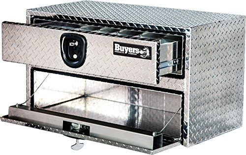 Buyers Products Diamond Tread Aluminum Underbody Truck Box w/Drawer (20x18x48 Inch) ()