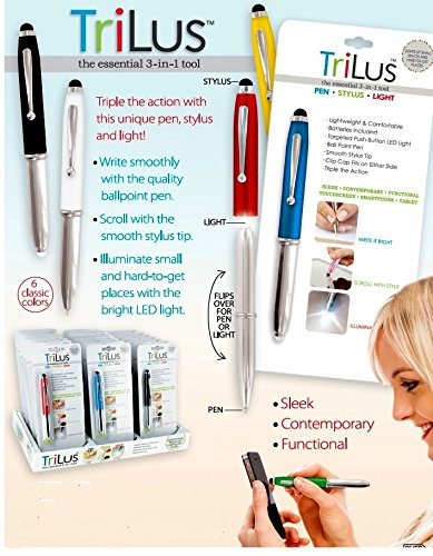 Trilus 3-1 Stylus, Light and Pen (Red) by Trilus (Image #2)