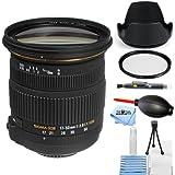 Sigma 17-50mm f/2.8 EX DC OS HSM Zoom Lens for Nikon DSLRs with APS-C Sensors 583306 [International Version] (Starter Bundle)