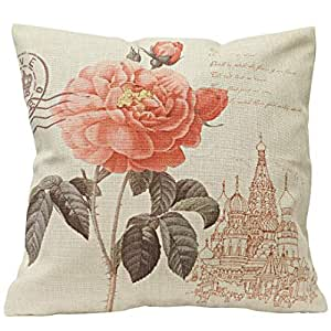 Red Flower of Paris Pillow Cover