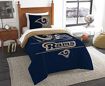 Amazon.com: Los Angeles Rams Bedding Set Sham NFL 2 Piece Twin Size ...
