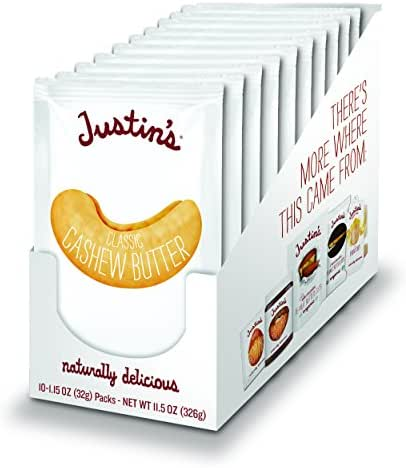 Peanut & Nut Butters: Justin's Cashew Butter Squeeze Packs