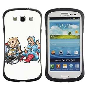 LASTONE PHONE CASE / Suave Silicona Caso Carcasa de Caucho Funda para Samsung Galaxy S3 I9300 / Drawing Art Kids Food Street Style Blonde