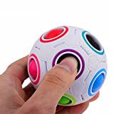 2017 Pop Rainbow Magic Ball Plastic Cube Twist Puzzle Toys For Children's Educational Toy Teenagers Adult Stress Reliever,Tuscom