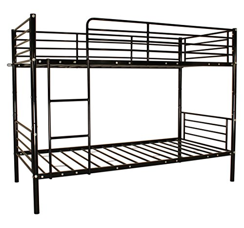 Space-saving Manhattan Bunk Bed Metal Frame Sleeper 2 Separate Single Beds Black