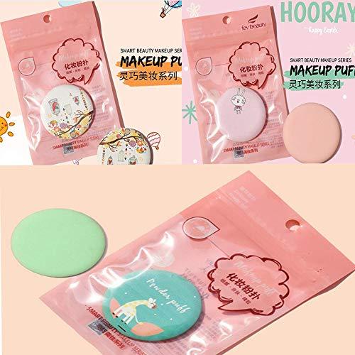 閃光満足させる予定乾濡れ2用化粧粉体 BBクリームクッションパフ スポンジのファンデーション(3個)