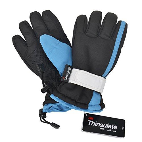Kids Unisex Kids Thinsulate Waterproof Winter Warm Ski Gloves S