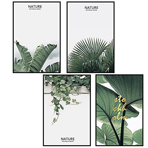 Fangeplus R DIY Removable Tropical Palm leaf Ivy Photos Vibrant Green Plant Art Mural Vinyl Waterproof Wall Stickers Kids Room Decor Nursery Decal Sticker Wallpaper ()
