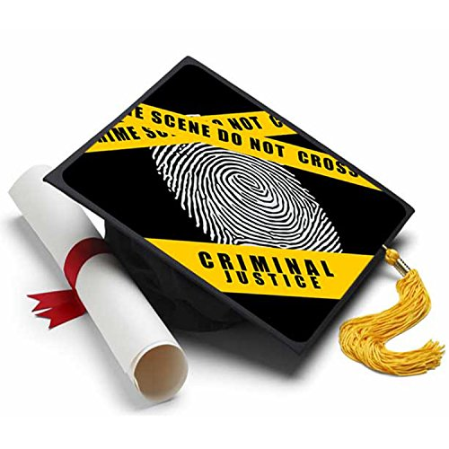 Criminal Justice Graduation Cap Tassel Topper - Decorated Grad Caps - Decorating Kits ()