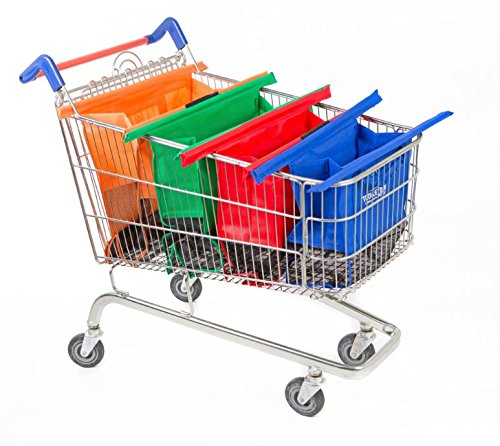 Trolley Bags - Reusable Eco Friendly Grocery Bags to Easily and Safely Bag your Groceries From Your Cart. Sized for Standard Grocery Carts. Reusable Cart Bags. (Standard Cart Size) by Trolley Bags (Image #2)