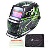iMeshbean Pro Cool Blue Spider Style Solar Auto-darkening Welding & Grinding Helmet + Extra Lens Covers & Storage Bag ANSI Certified Model#1039 USA