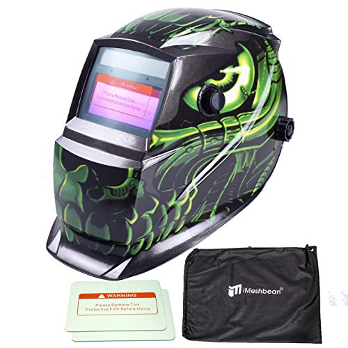 iMeshbean Pro Cool Blue Spider Style Solar Auto-darkening Welding & Grinding Helmet + Extra Lens Covers & Storage Bag ANSI Certified Model#1039 USA by i-mesh-bean