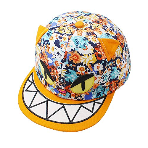 LONIY Boy Baseball Caps 3-8 Years Old Kid Cute Monster Design Snapback Caps High Qaulity Adjustable Cap for Girl