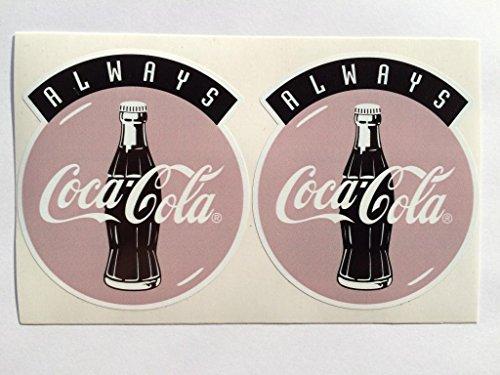 2 Vintage Style Always Coca-Cola Die Cut Decals