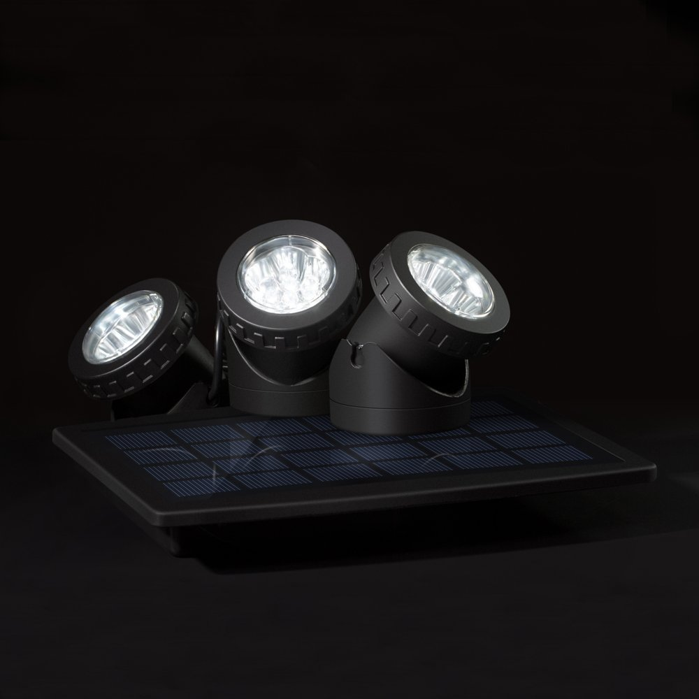 Lixada Solarspots 18 LEDs Unterwasser Lampen Au/ßenbeleuchtung 3 Scheinwerfer