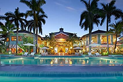 Amazon.com: Poster maldives tropical house swimming pool spa ...