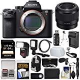 Sony Alpha A7R II 4K Wi-Fi Digital Camera Body with FE 50mm f/1.8 Lens + 64GB Card + Backpack + Flash + Video Light + Battery Kit